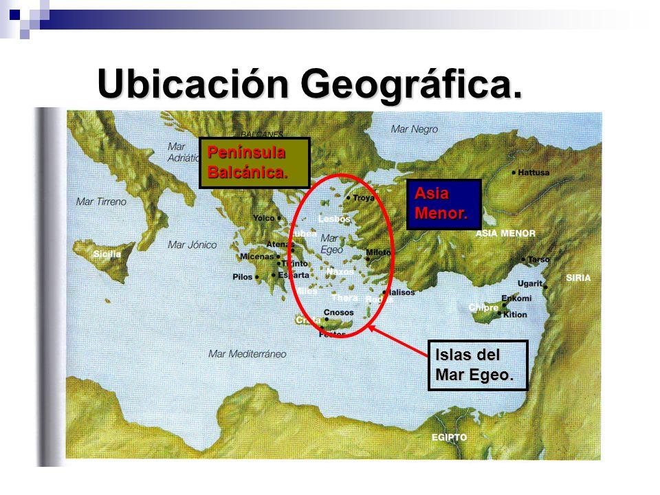 Ubicación Geográfica. Península Balcánica. Asia Menor.