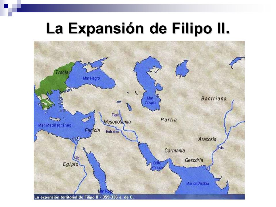 La Expansión de Filipo II.