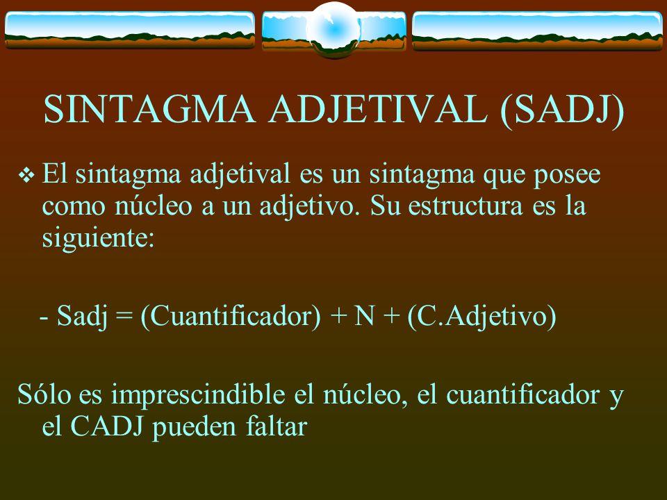SINTAGMA ADJETIVAL (SADJ)