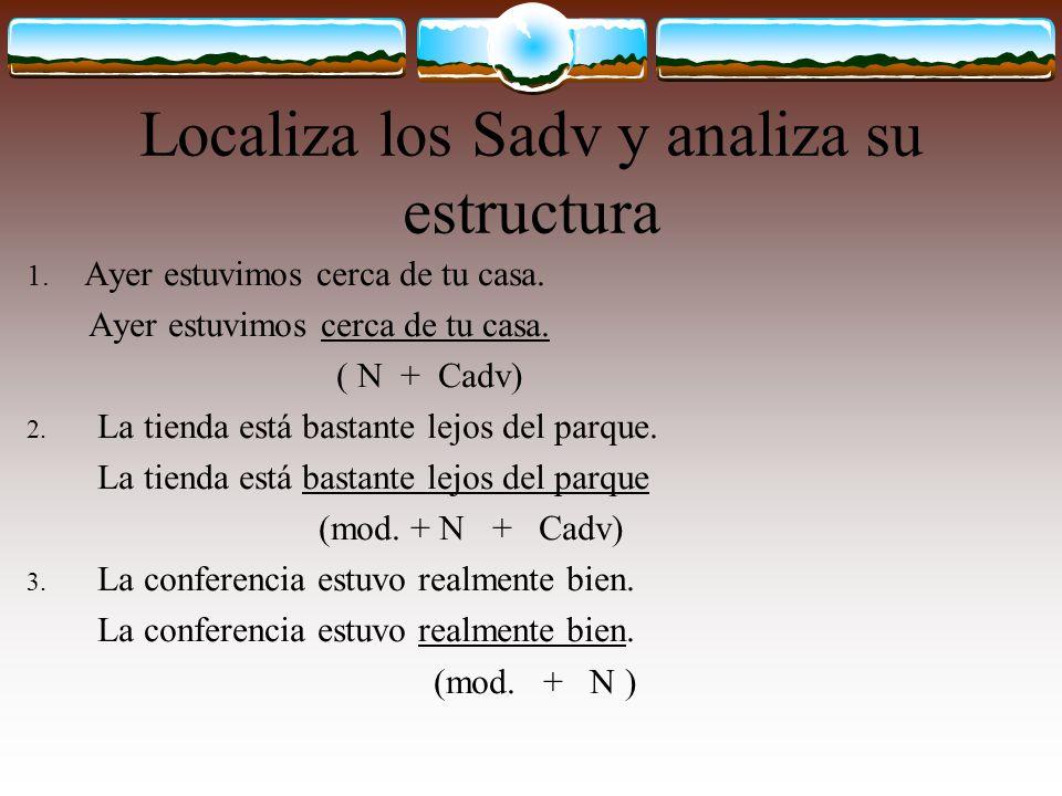 Localiza los Sadv y analiza su estructura