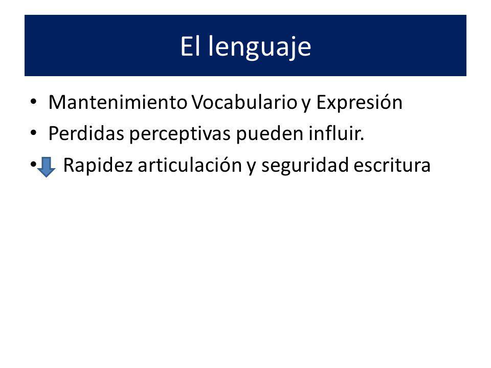 El lenguaje Mantenimiento Vocabulario y Expresión