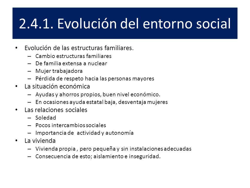 2.4.1. Evolución del entorno social