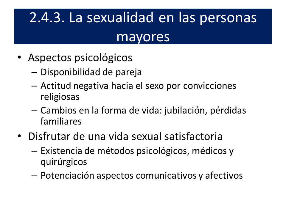 2.4.3. La sexualidad en las personas mayores