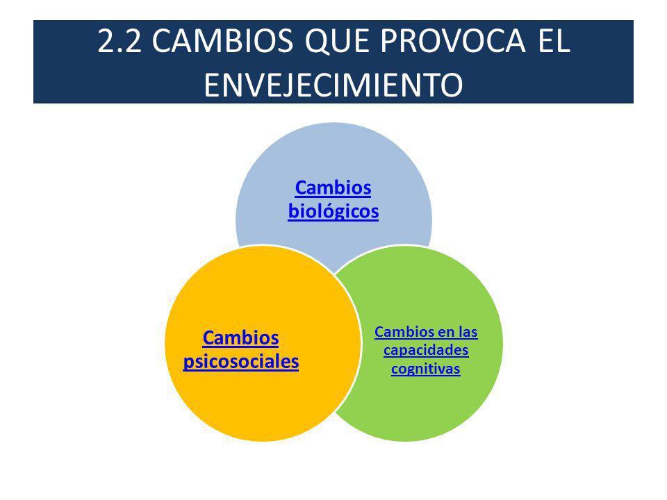 2.2 CAMBIOS QUE PROVOCA EL ENVEJECIMIENTO