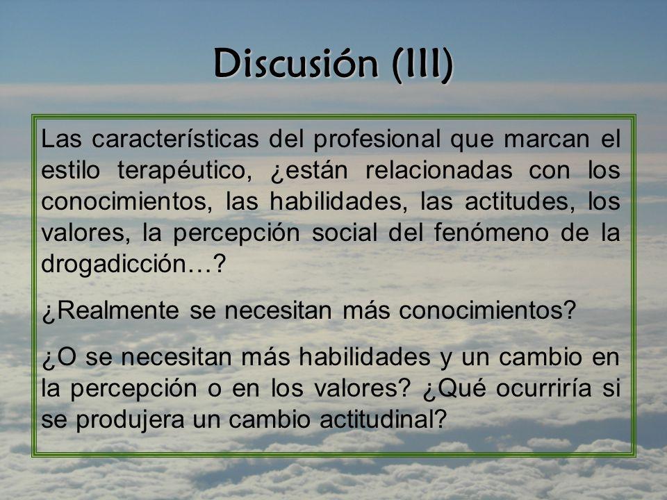 Discusión (III)