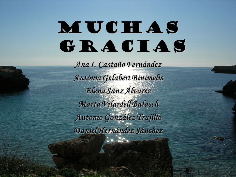 MUCHAS GRACIAS Ana I. Castaño Fernández Antònia Gelabert Binimelis