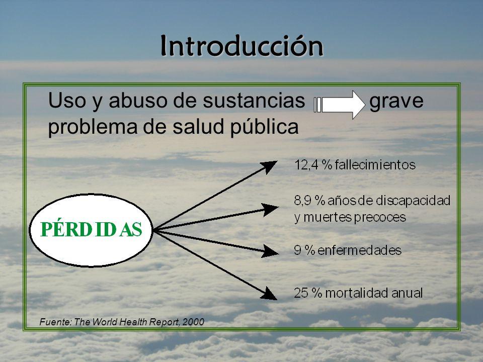 Introducción Uso y abuso de sustancias grave problema de salud pública