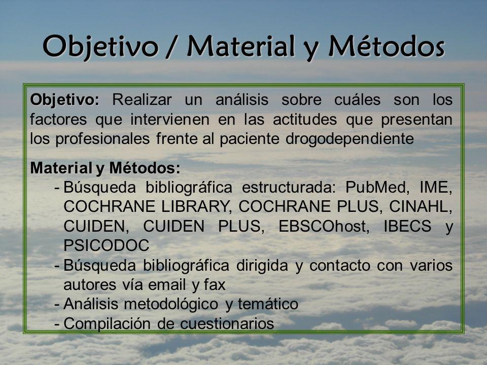 Objetivo / Material y Métodos