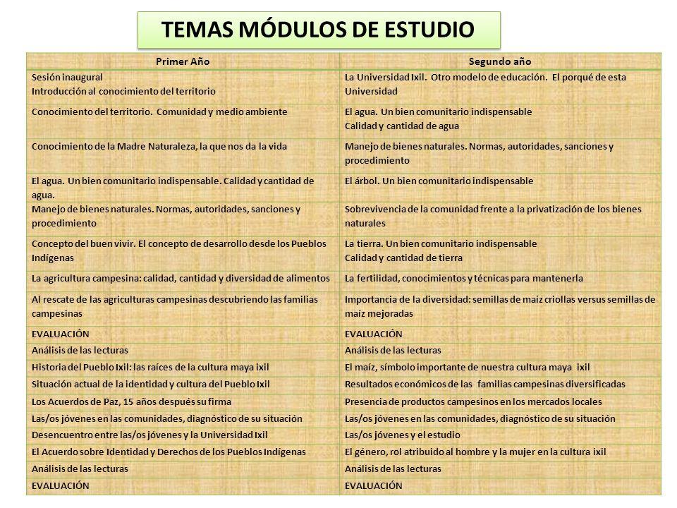 TEMAS MÓDULOS DE ESTUDIO