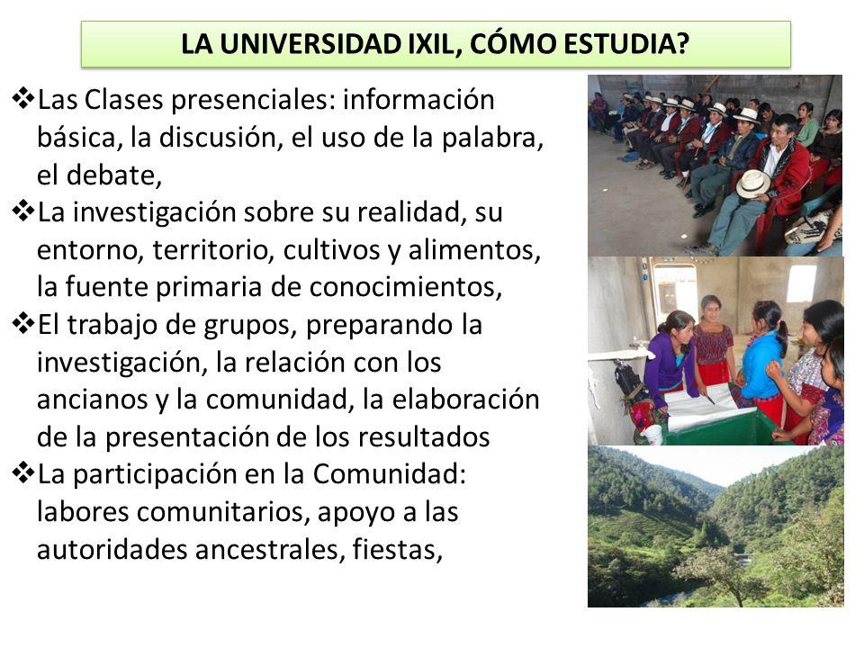 LA UNIVERSIDAD IXIL, CÓMO ESTUDIA