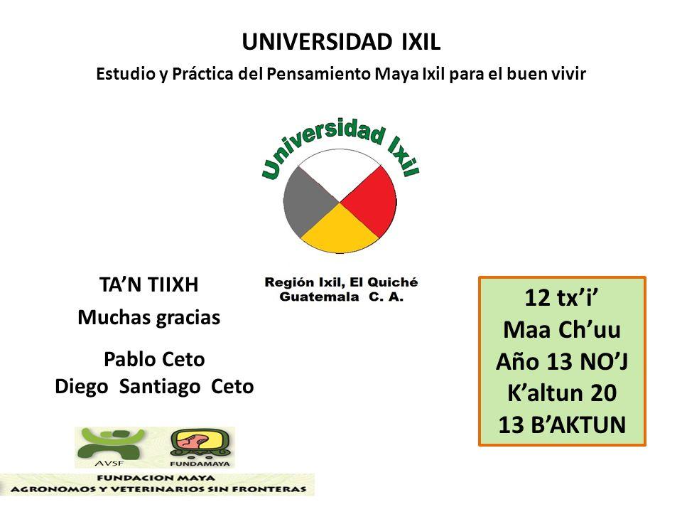 UNIVERSIDAD IXIL 12 tx'i' Maa Ch'uu Año 13 NO'J K'altun 20 13 B'AKTUN