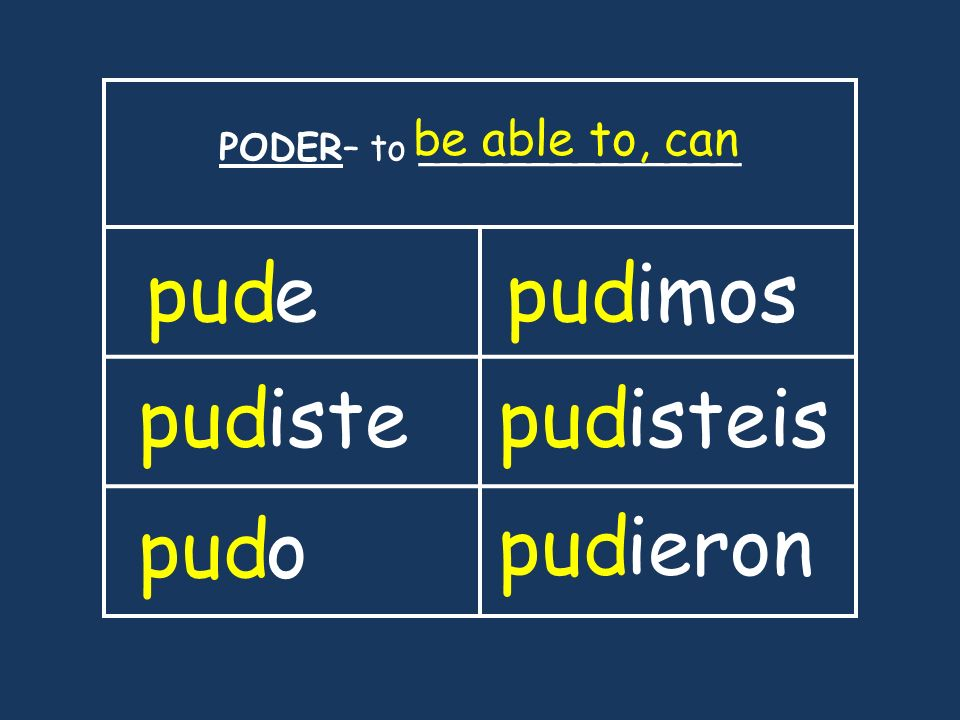 PODER– to ______________