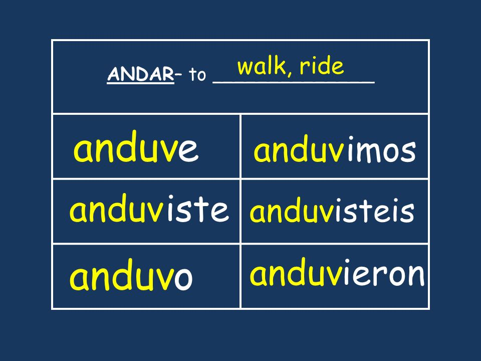 ANDAR– to ______________