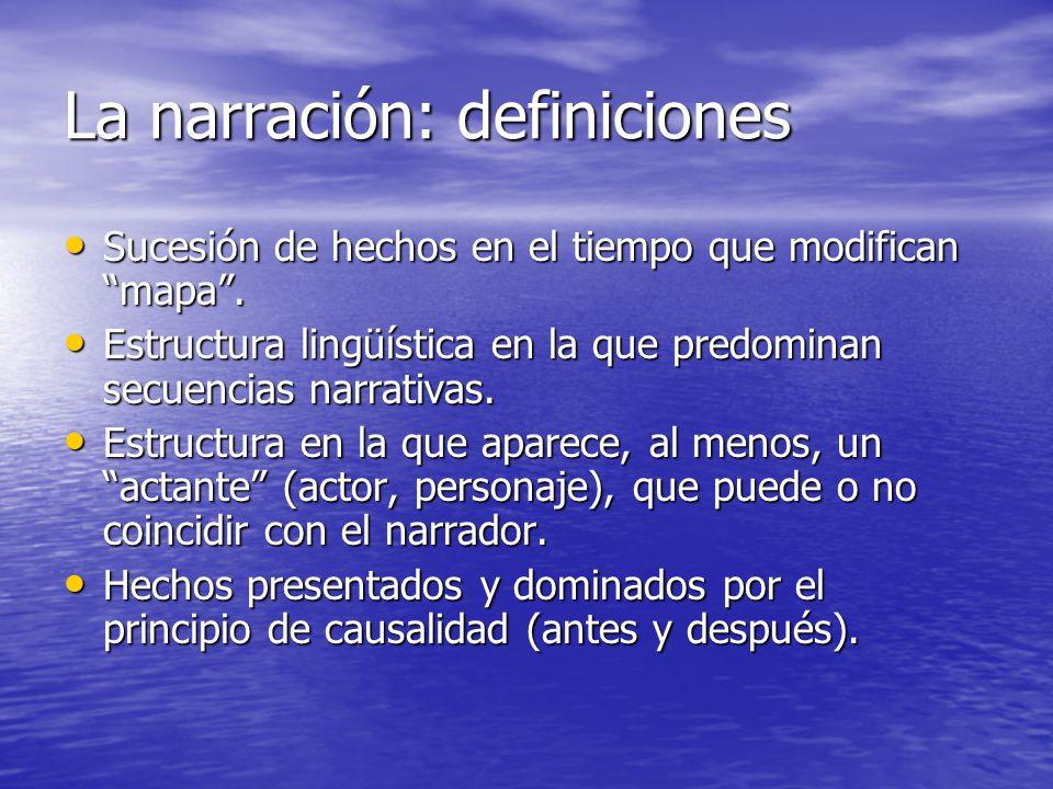 La narración: definiciones