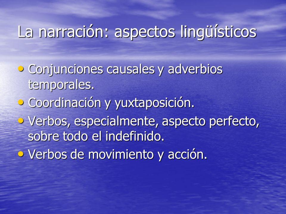 La narración: aspectos lingüísticos