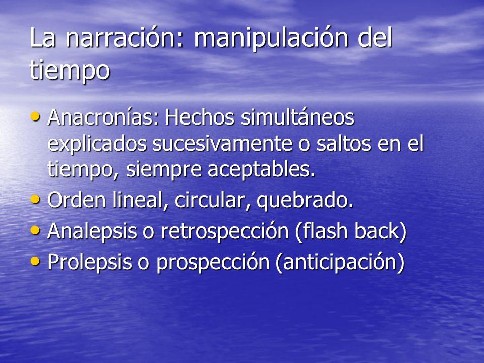 La narración: manipulación del tiempo