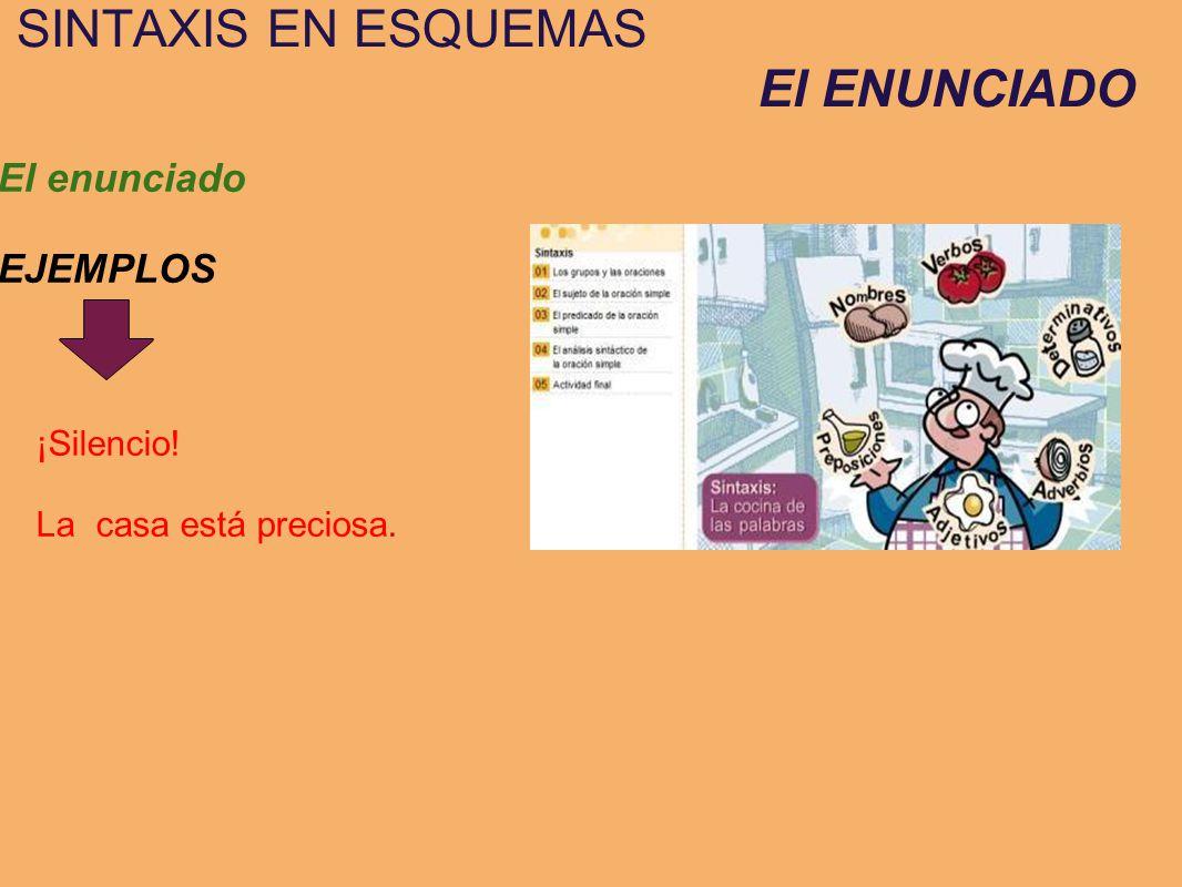 SINTAXIS EN ESQUEMAS El ENUNCIADO