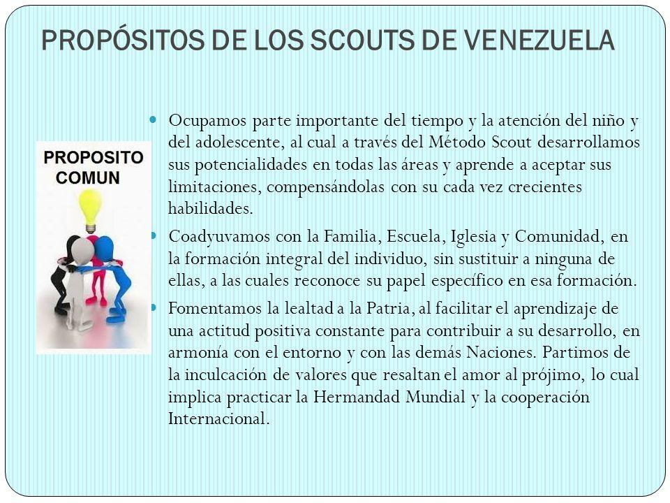PROPÓSITOS DE LOS SCOUTS DE VENEZUELA