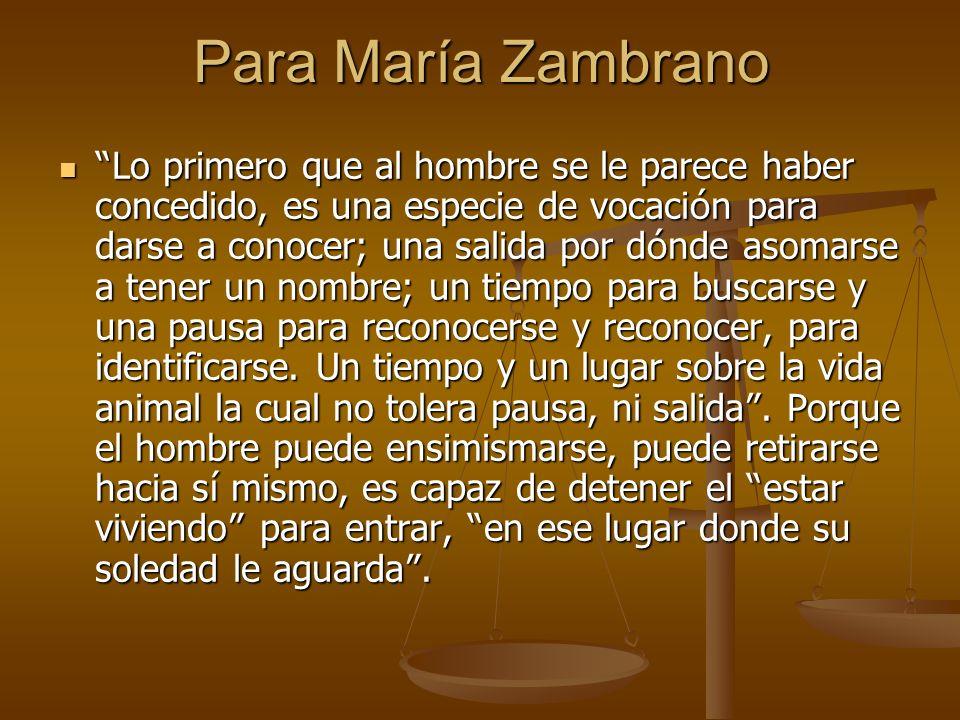 Para María Zambrano