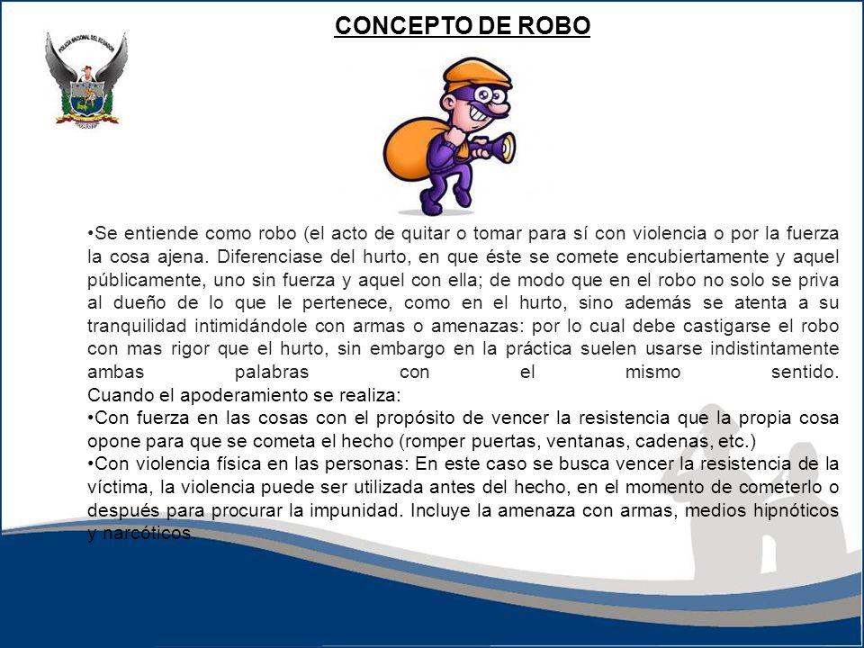 CONCEPTO DE ROBO