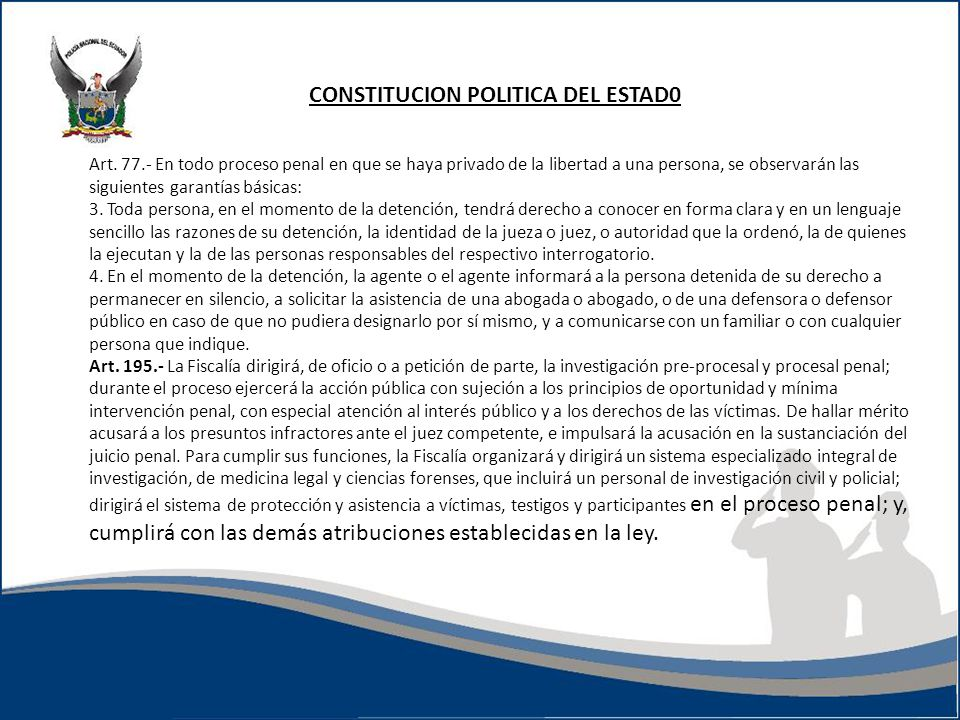 CONSTITUCION POLITICA DEL ESTAD0