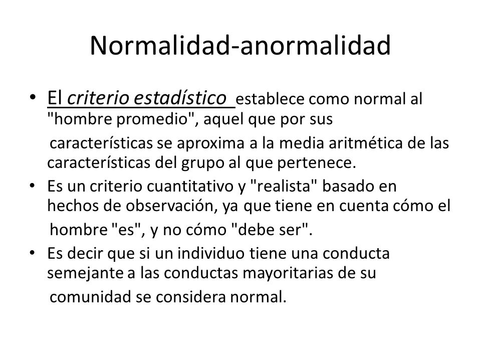Normalidad-anormalidad