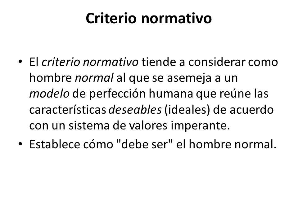 Criterio normativo
