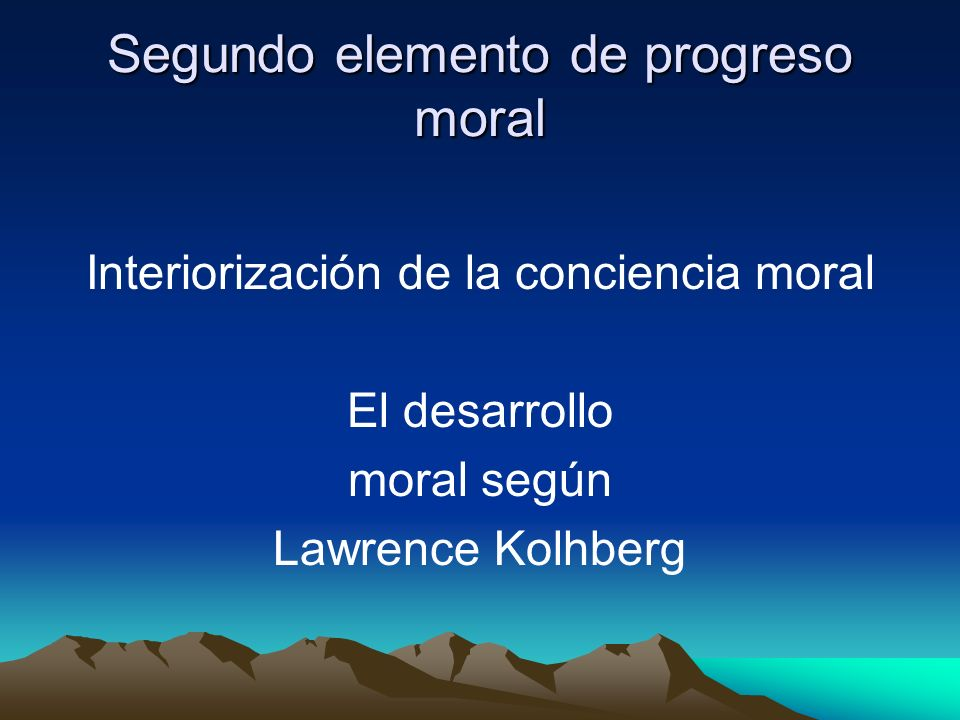 Segundo elemento de progreso moral
