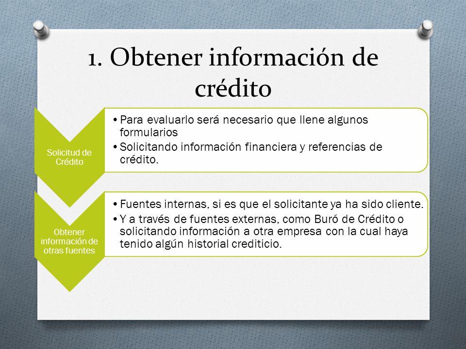 1. Obtener información de crédito