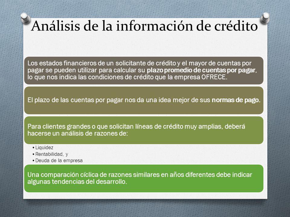 Análisis de la información de crédito