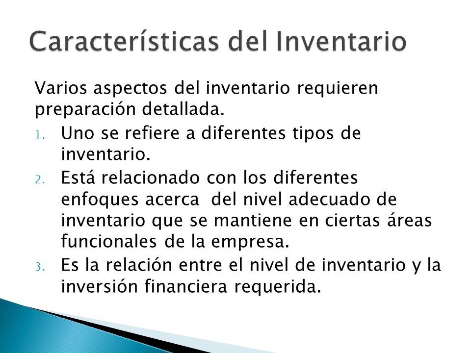 Características del Inventario