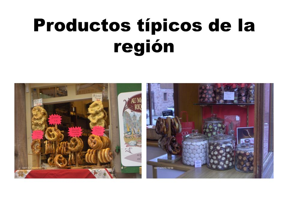Productos típicos de la región