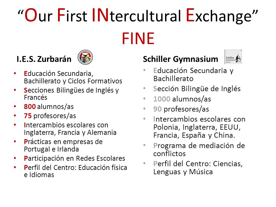 Our First INtercultural Exchange FINE