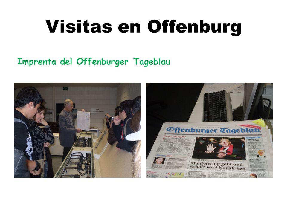 Visitas en Offenburg Imprenta del Offenburger Tageblau