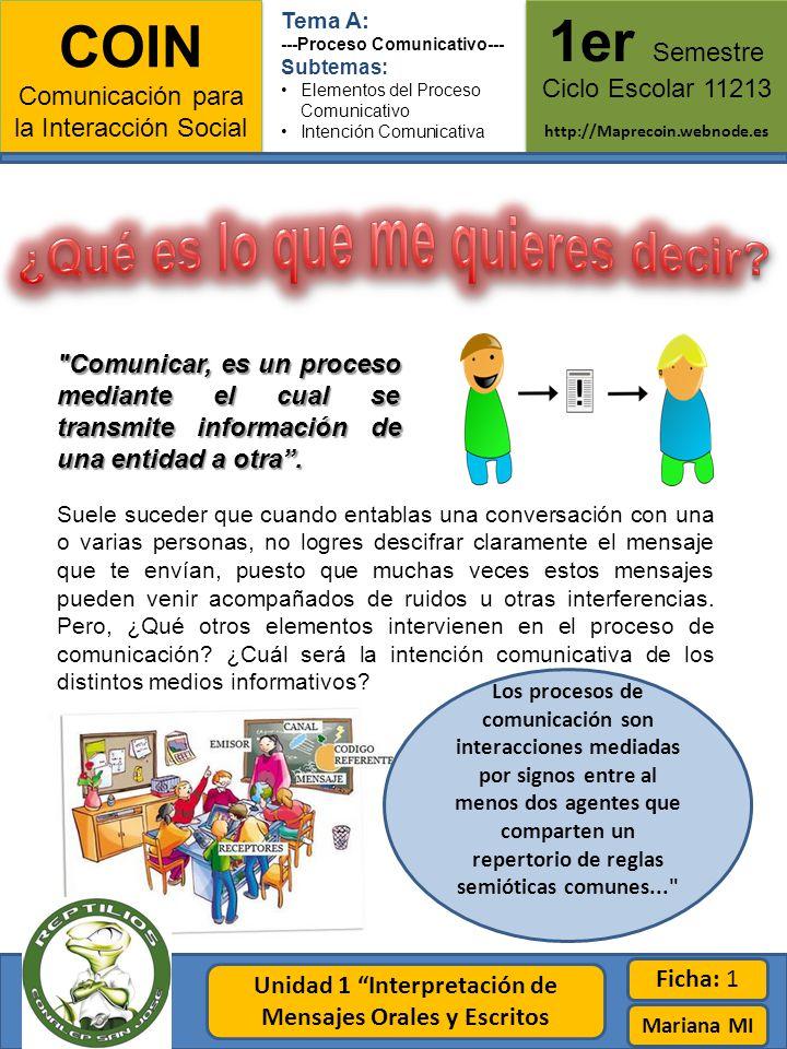 COIN Comunicación para la Interacción Social