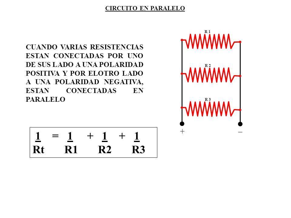 CIRCUITO EN PARALELO R 1. +