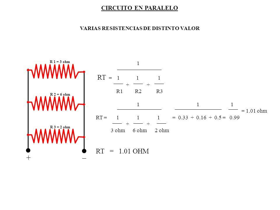 _ + RT = 1.01 OHM CIRCUITO EN PARALELO