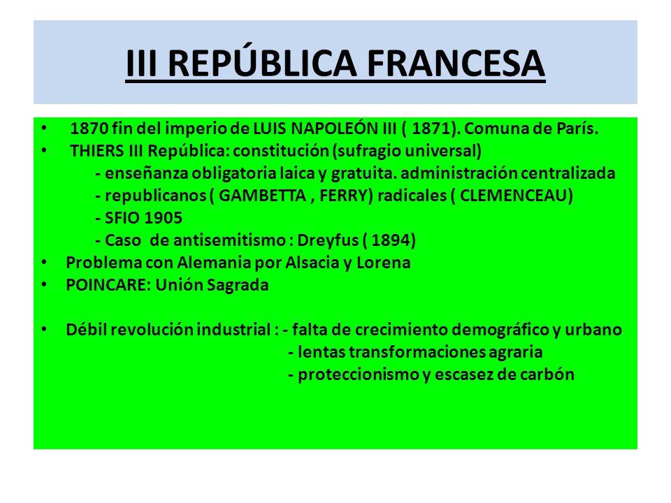 III REPÚBLICA FRANCESA
