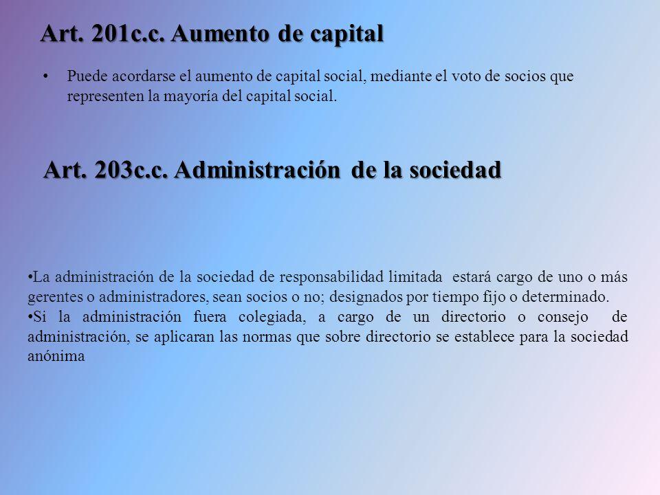 Art. 201c.c. Aumento de capital