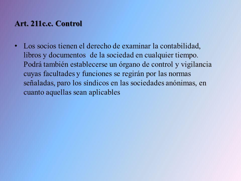 Art. 211c.c. Control