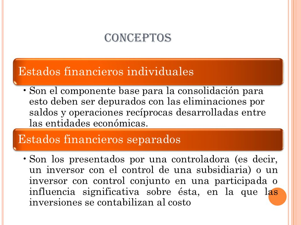 CONCEPTOS Estados financieros individuales