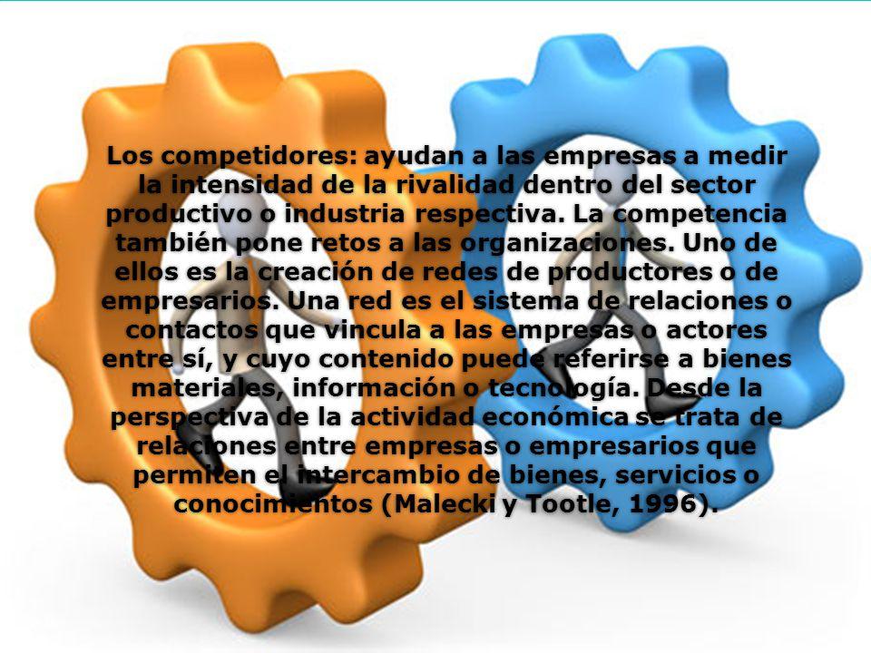 Los competidores: ayudan a las empresas a medir la intensidad de la rivalidad dentro del sector productivo o industria respectiva.