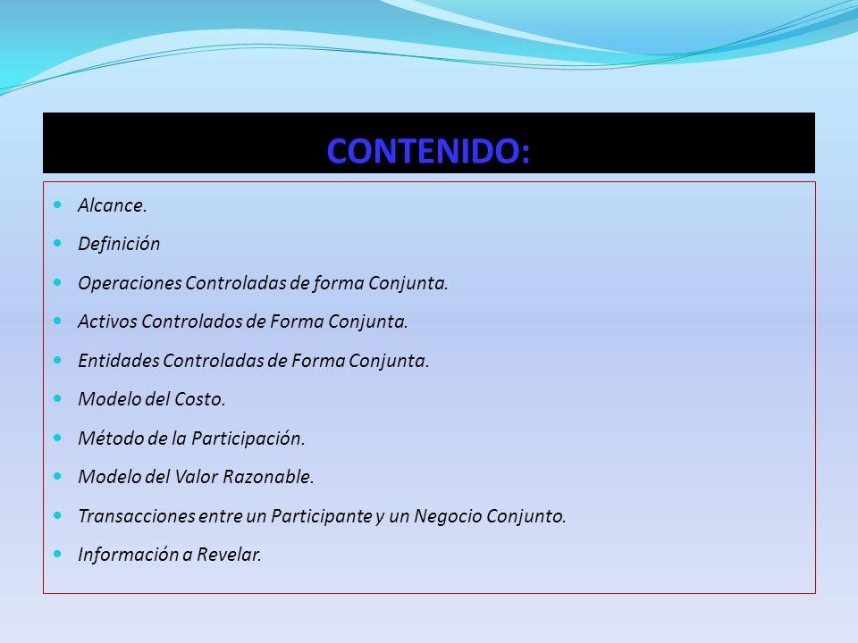 CONTENIDO: Alcance. Definición