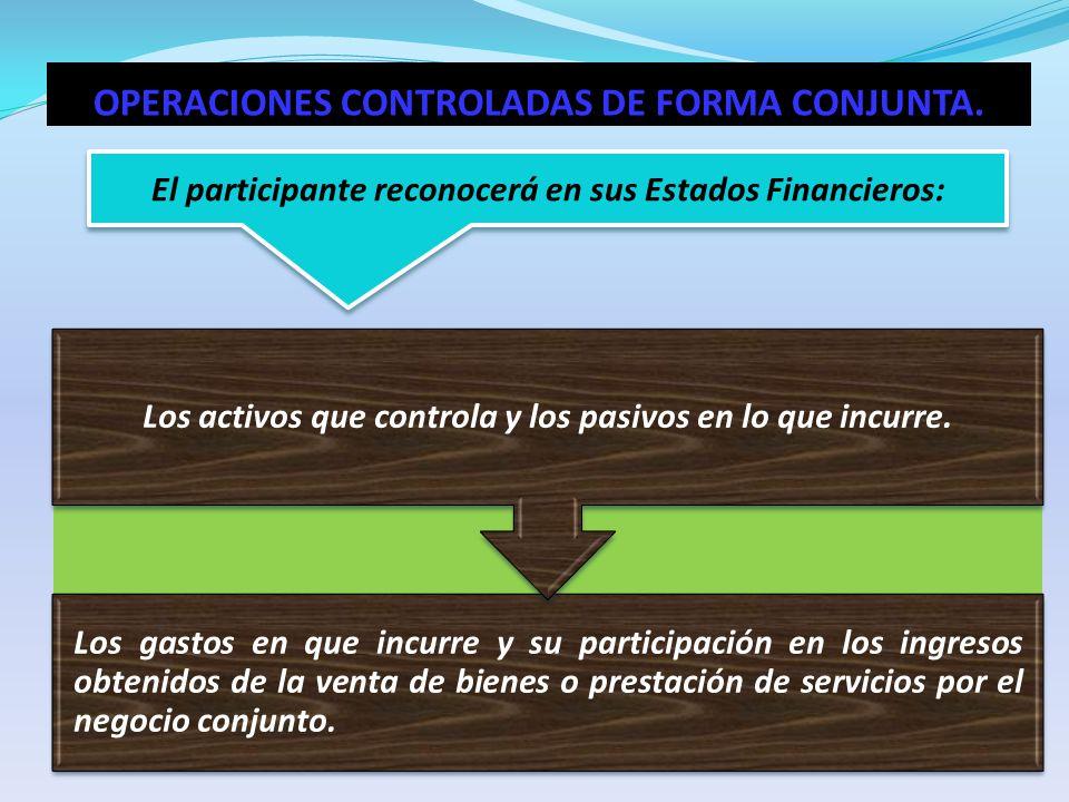 OPERACIONES CONTROLADAS DE FORMA CONJUNTA.