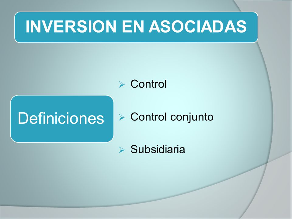 INVERSION EN ASOCIADAS