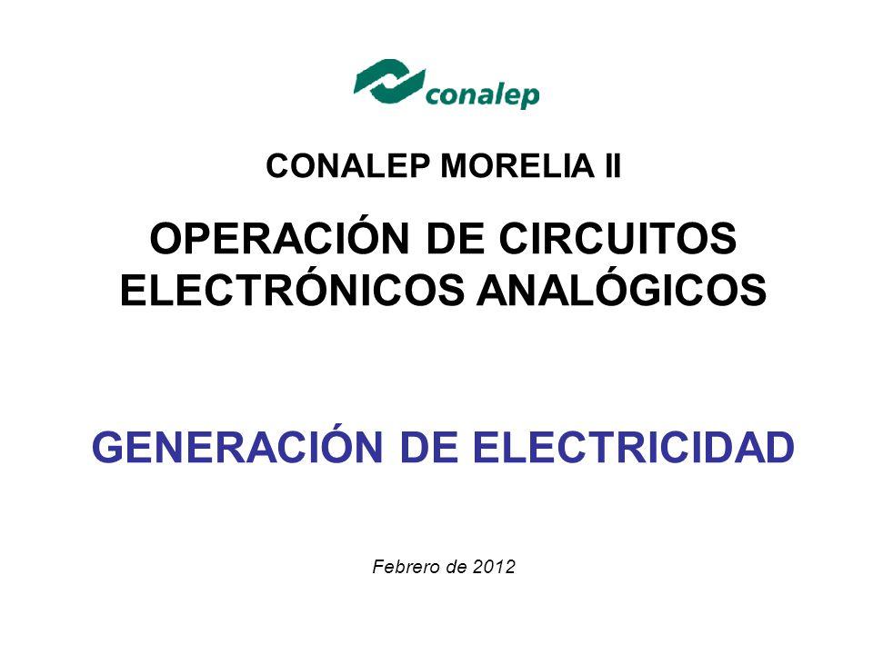 OPERACIÓN DE CIRCUITOS ELECTRÓNICOS ANALÓGICOS