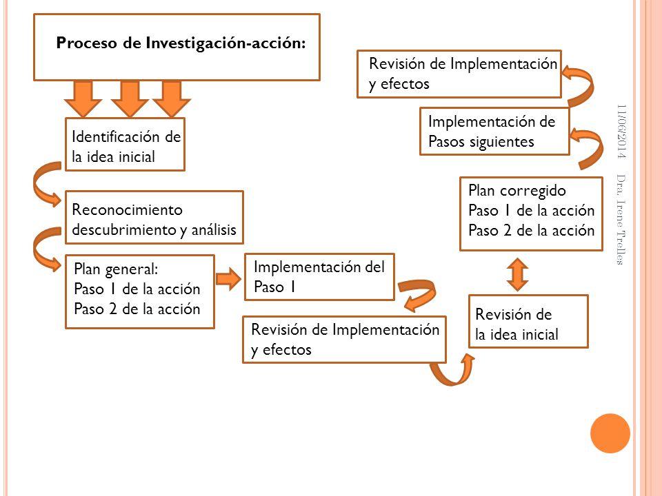 Proceso de Investigación-acción: Revisión de Implementación y efectos