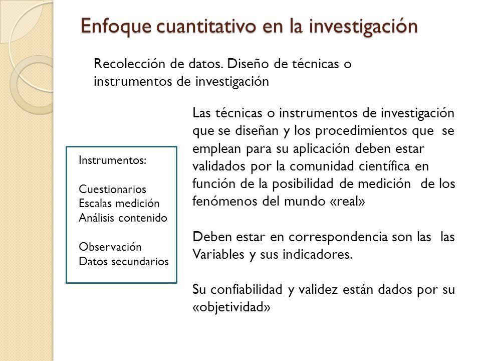 Enfoque cuantitativo en la investigación