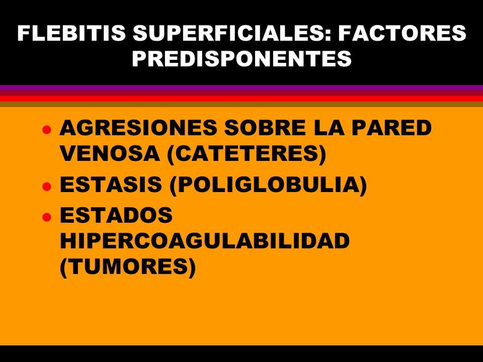 FLEBITIS SUPERFICIALES: FACTORES PREDISPONENTES