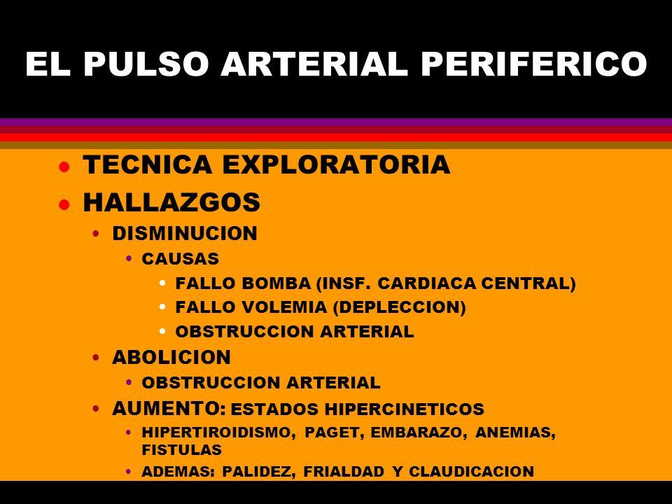 EL PULSO ARTERIAL PERIFERICO